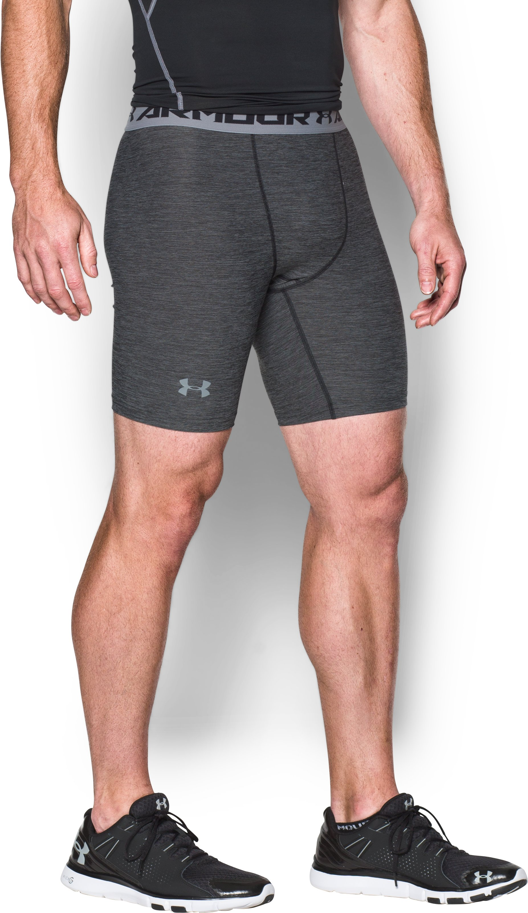Men's UA HeatGear® Armour Twist Compression Shorts, Black