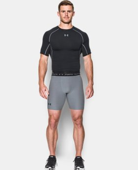 New Arrival  Men's UA HeatGear® Armour Twist Compression Shorts LIMITED TIME: FREE SHIPPING 1 Color $34.99