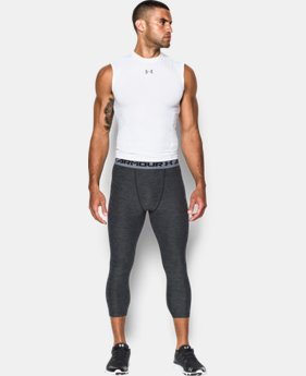 New Arrival  Men's UA HeatGear® Armour Twist ¾ Compression Leggings   $44.99