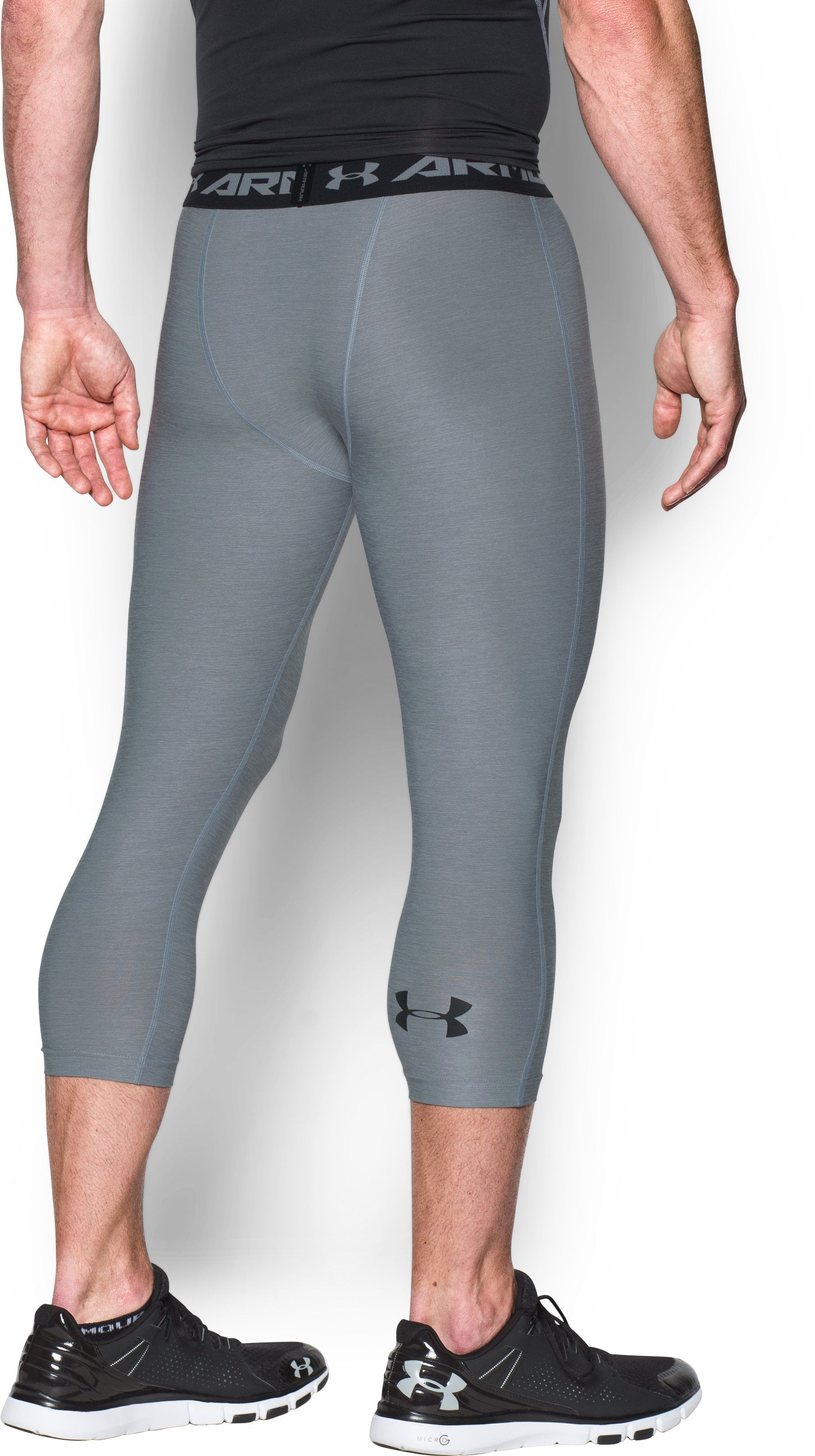 Men's UA HeatGear® Armour Twist ¾ Compression Leggings, Steel