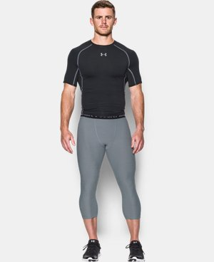 Men's UA HeatGear® Armour Twist ¾ Compression Leggings LIMITED TIME: FREE SHIPPING 2 Colors $33.99