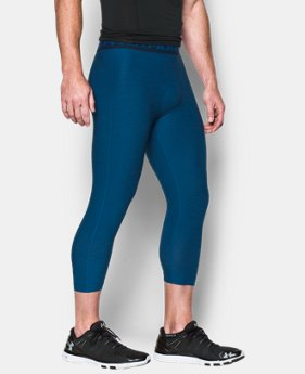 Men's UA HeatGear® Armour Twist ¾ Compression Leggings LIMITED TIME: FREE SHIPPING 1 Color $44.99