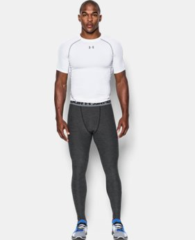 New Arrival  Men's UA HeatGear® Armour Twist Compression Leggings  1 Color $49.99