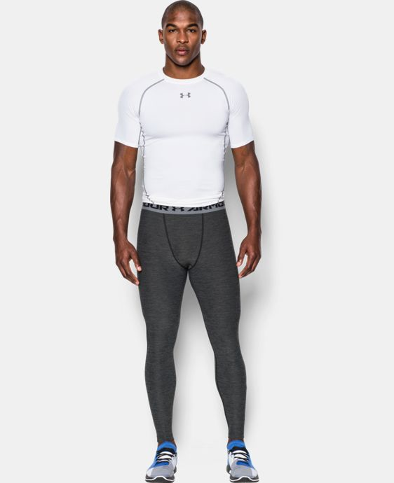 Men's UA HeatGear® Armour Twist Compression Leggings LIMITED TIME: FREE U.S. SHIPPING 2 Colors $25.49 to $33.99