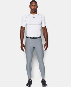 New Arrival  Men's UA HeatGear® Armour Twist Compression Leggings LIMITED TIME: FREE SHIPPING 1 Color $49.99