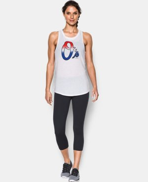 Women's Baltimore Orioles 4th of July Cutout Tank LIMITED TIME: FREE U.S. SHIPPING 1 Color $34.99