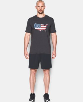 New Arrival Men's UA Freedom USA Flag T-Shirt LIMITED TIME: FREE SHIPPING 2 Colors $24.99