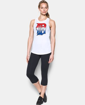 Women's Detroit Tigers 4th of July Cutout Tank LIMITED TIME: FREE U.S. SHIPPING 1 Color $34.99