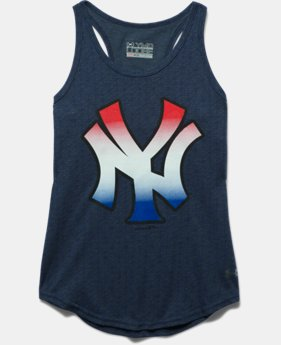 Girls' New York Yankees UA Tri-Blend Tank