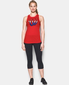 New Arrival Women's Washington Nationals Cutout Tank LIMITED TIME: FREE SHIPPING  $34.99
