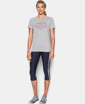 Women's UA Freedom Honor Starts & Stripes  Short Sleeve T-Shirt LIMITED TIME: FREE SHIPPING  $29.99