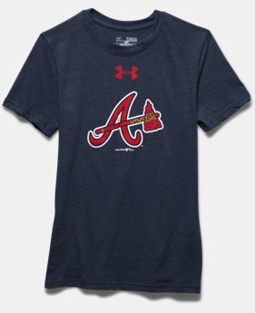 Boys' Atlanta Braves Vintage Tri-Blend T-Shirt