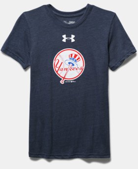 Boys' New York Yankees Vintage Tri-Blend T-Shirt