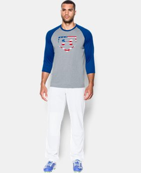 Men's UA Baseball USA ¾ Sleeve T-Shirt