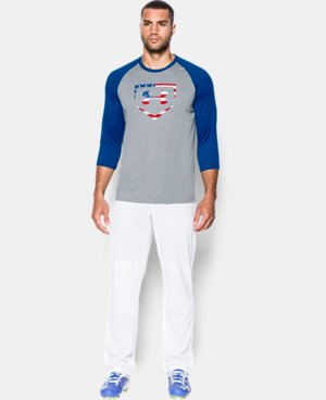Men's UA Baseball USA ¾ Sleeve T-Shirt  1 Color $29.99