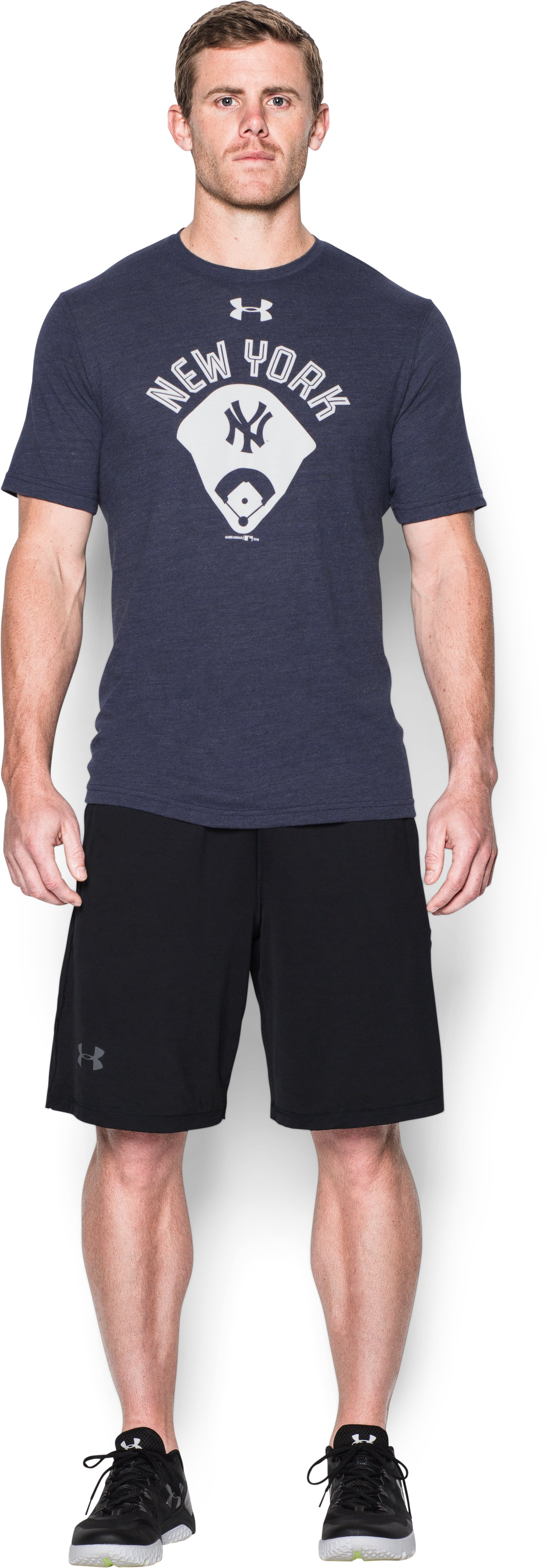 Men's New York Yankees Vintage Tri-blend, Midnight Navy
