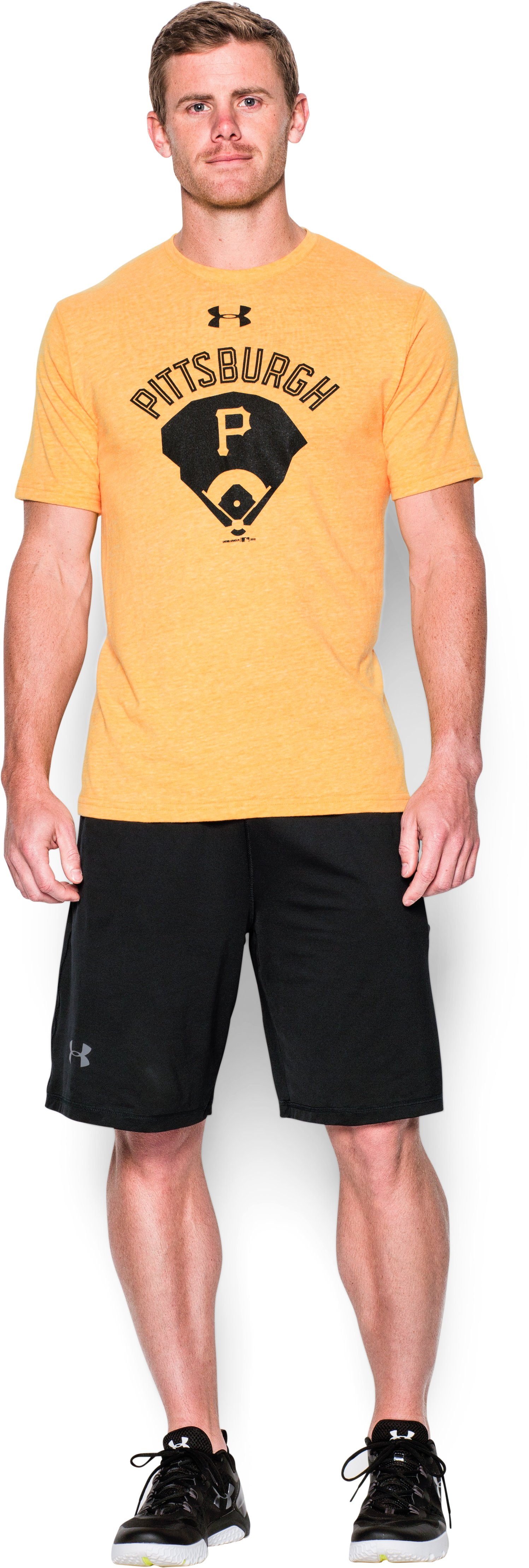 Men's Pittsburgh Pirates Vintage Tri-blend, Steeltown Gold, zoomed image