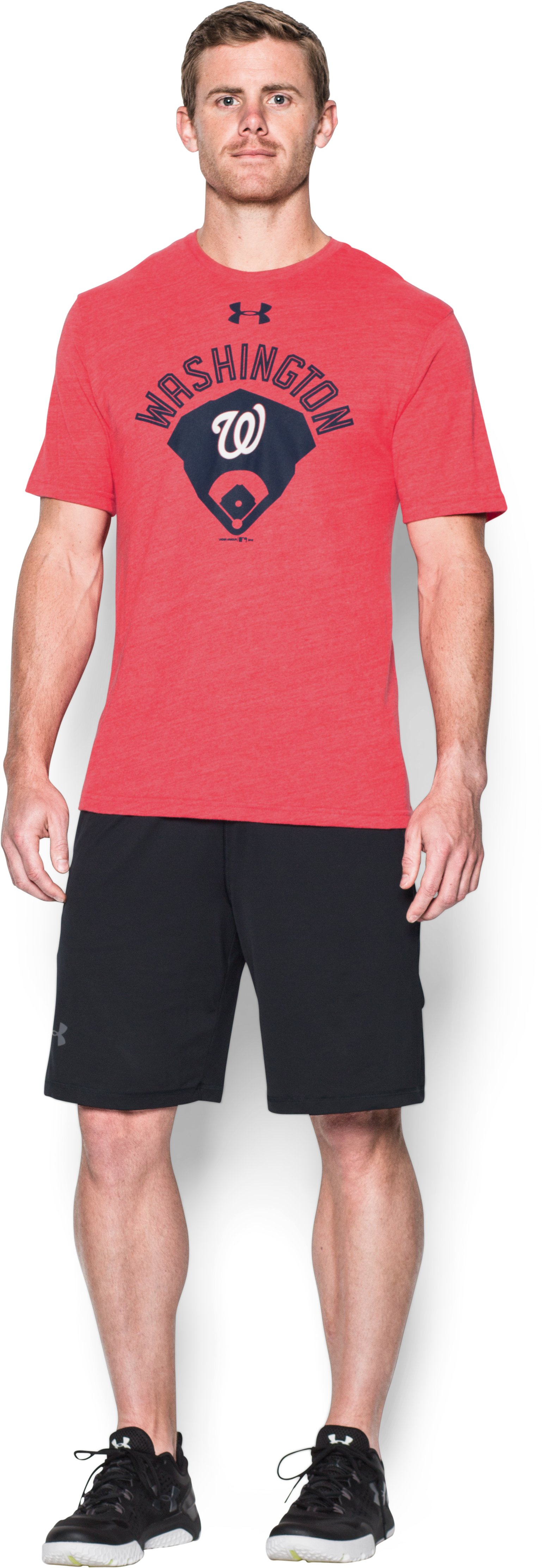 Men's Washington Nationals Vintage Tri-blend, Red, Front