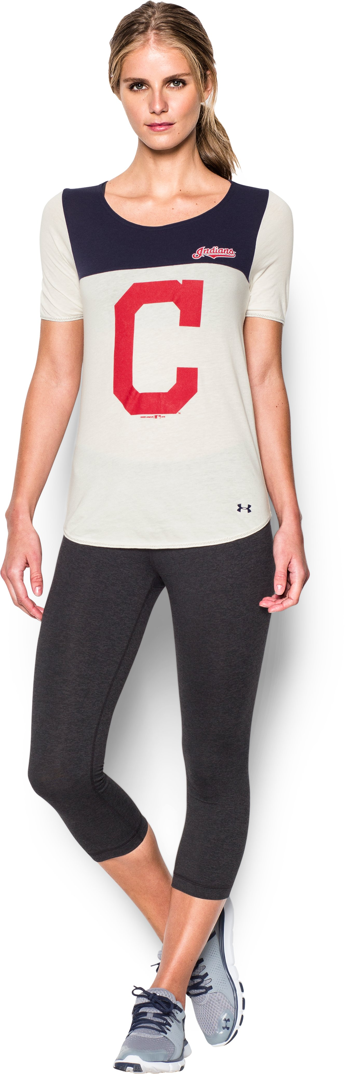 Women's Cleveland Indians Vintage Shirzee, Midnight Navy, zoomed image
