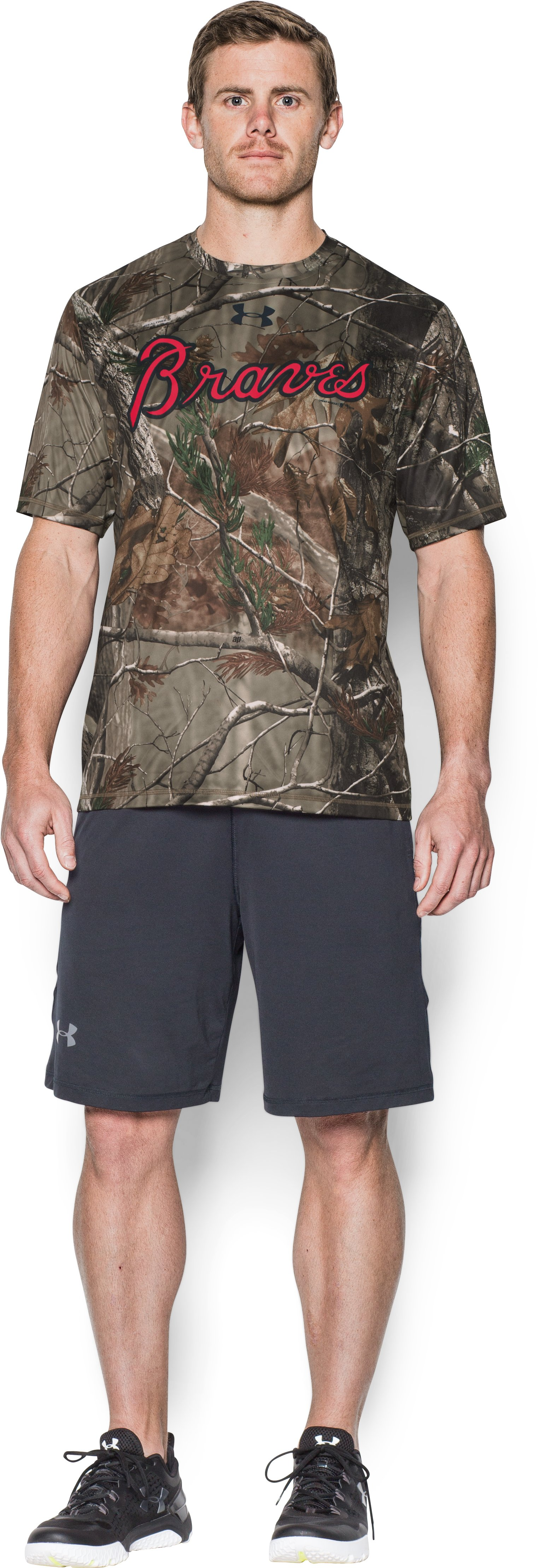 Men's Atlanta Braves Camo T-Shirt, Forest Green