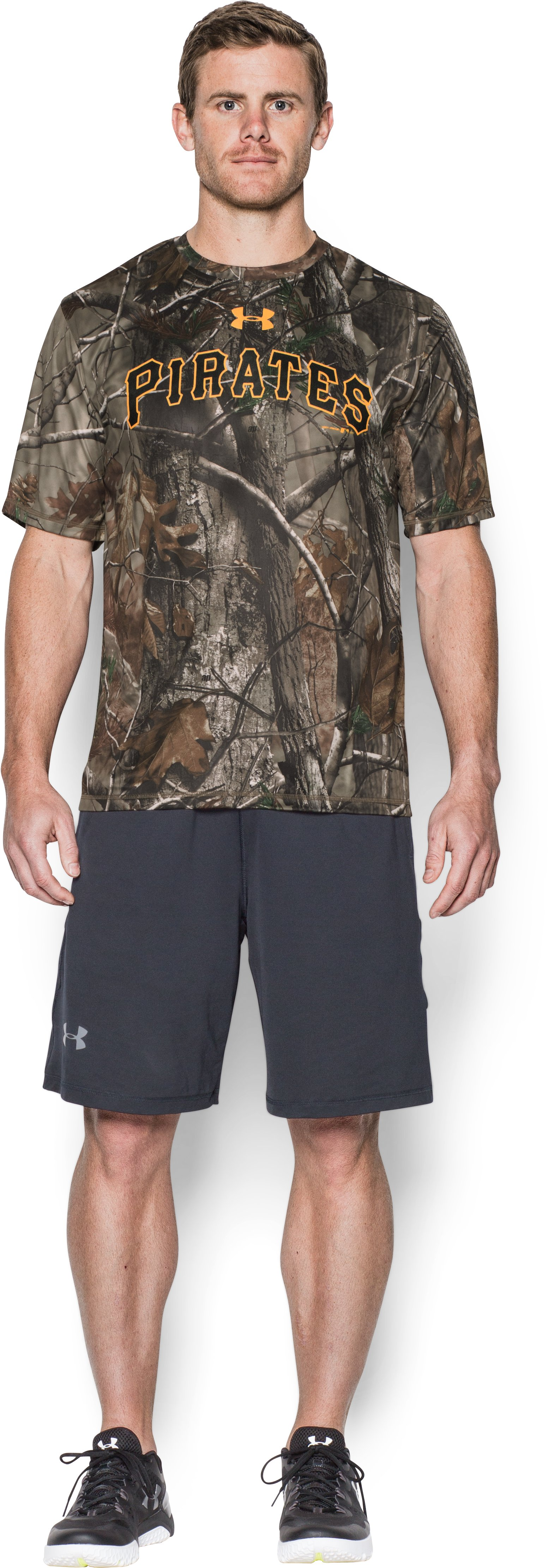 Men's Pittsburgh Pirates Camo T-Shirt, Forest Green