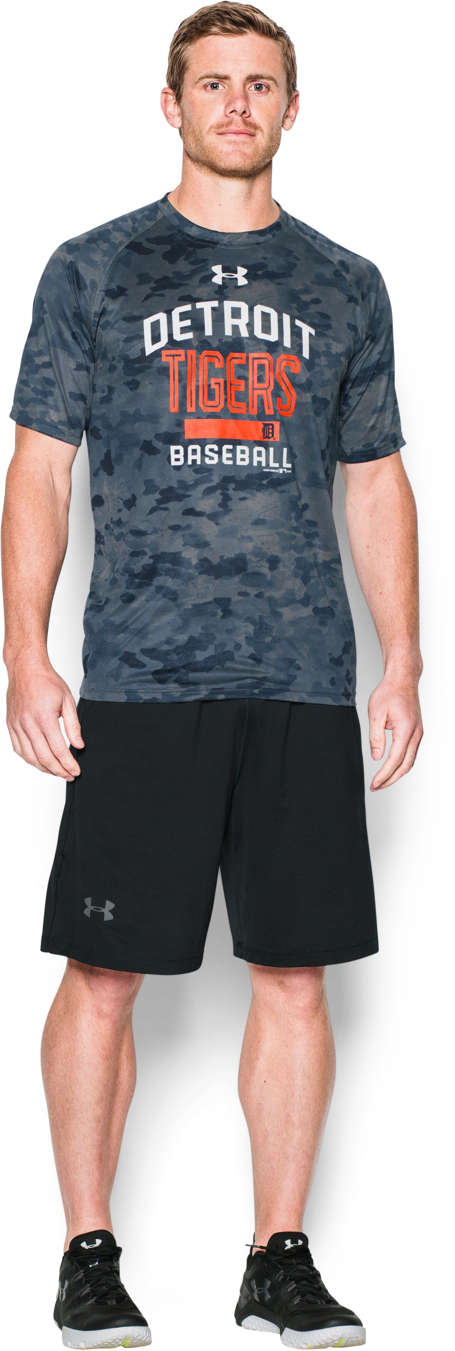 Men's Detroit Tigers Camo Tech™ T-Shirt, Midnight Navy, Front