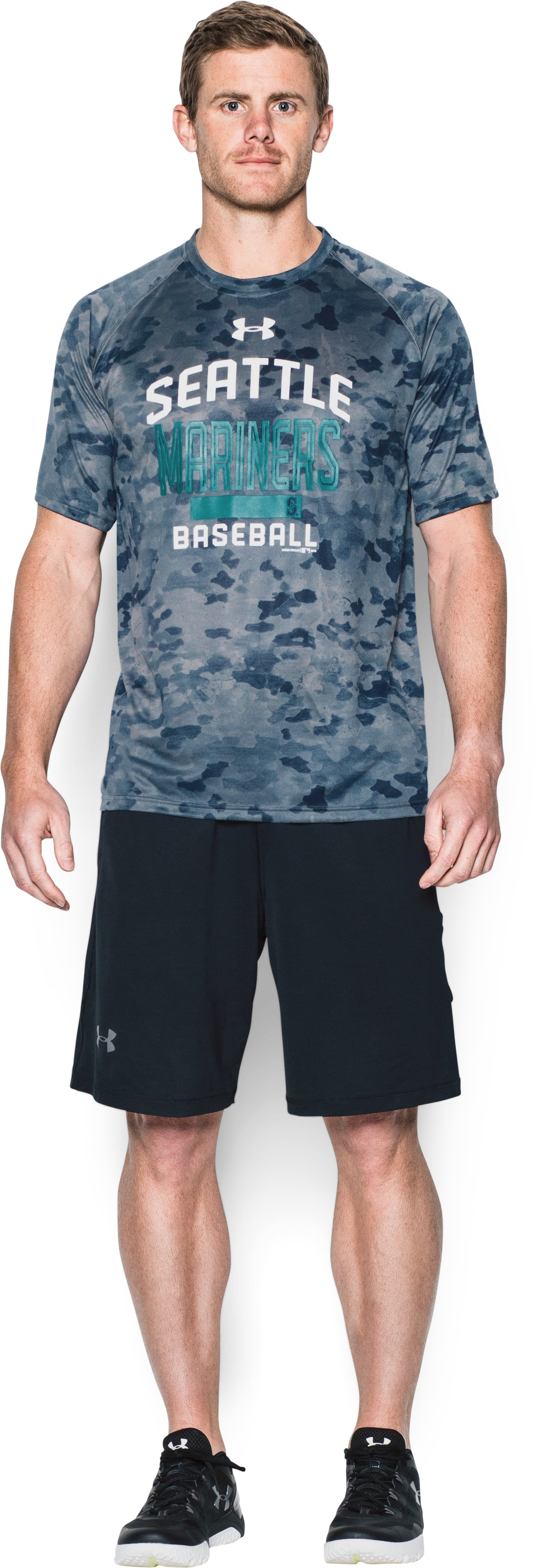 Men's Seattle Mariners Camo Tech™ T-Shirt, Midnight Navy, Front