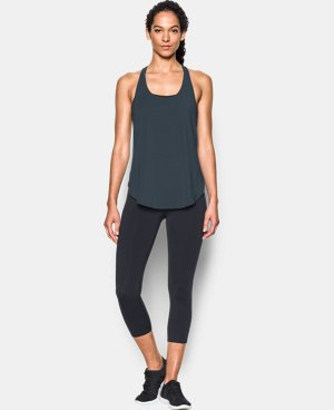Women's UA Essential Racer Tank LIMITED TIME: FREE U.S. SHIPPING 1 Color $34.99