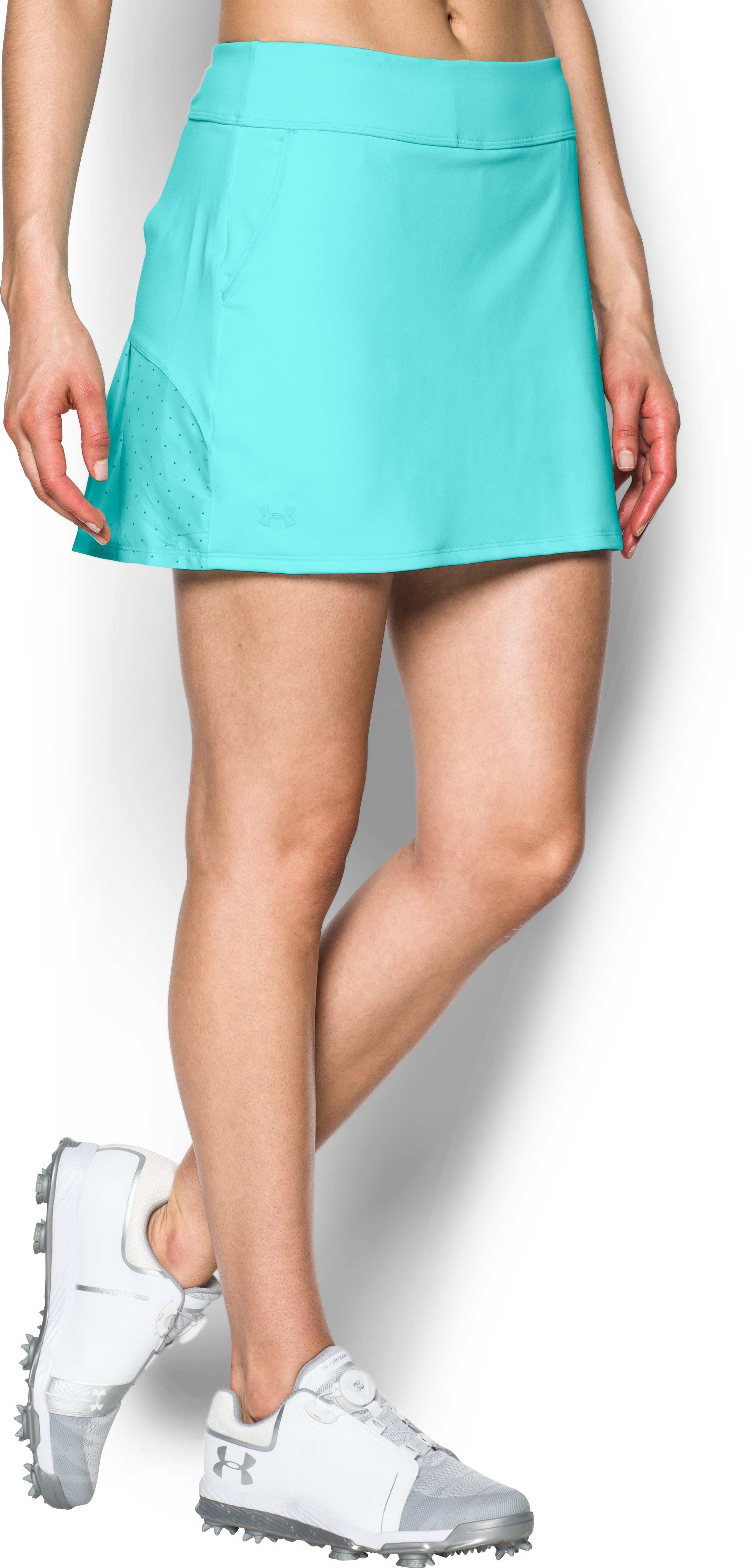 Women's UA Links Knit Skort, BLUE INFINITY