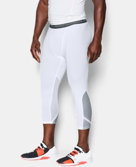 New Arrival  Men's UA HeatGear® Armour CoolSwitch Supervent ¾ Leggings   $69.99