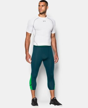 Men's UA HeatGear® Armour CoolSwitch Supervent ¾ Leggings