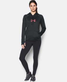 New to Outlet Women's UA Logo Caliber Hoodie LIMITED TIME OFFER 14 Colors $29.99