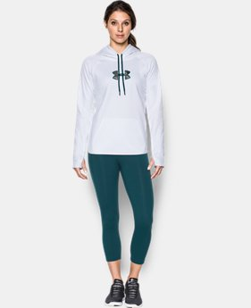 New to Outlet Women's UA Logo Caliber Hoodie LIMITED TIME OFFER 15 Colors $29.99