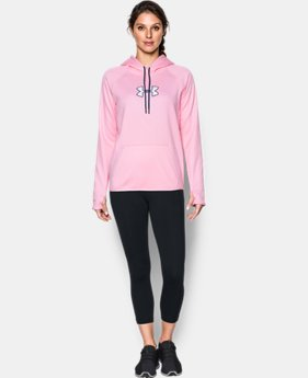 New to Outlet Women's UA Logo Caliber Hoodie LIMITED TIME OFFER 17 Colors $29.99