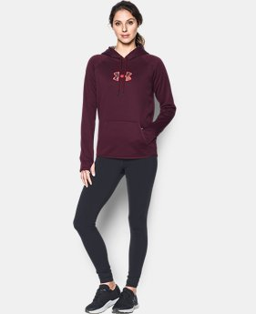 New to Outlet Women's UA Logo Caliber Hoodie LIMITED TIME OFFER 9 Colors $29.99