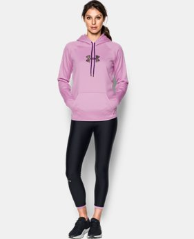 New to Outlet Women's UA Logo Caliber Hoodie LIMITED TIME OFFER 4 Colors $29.99