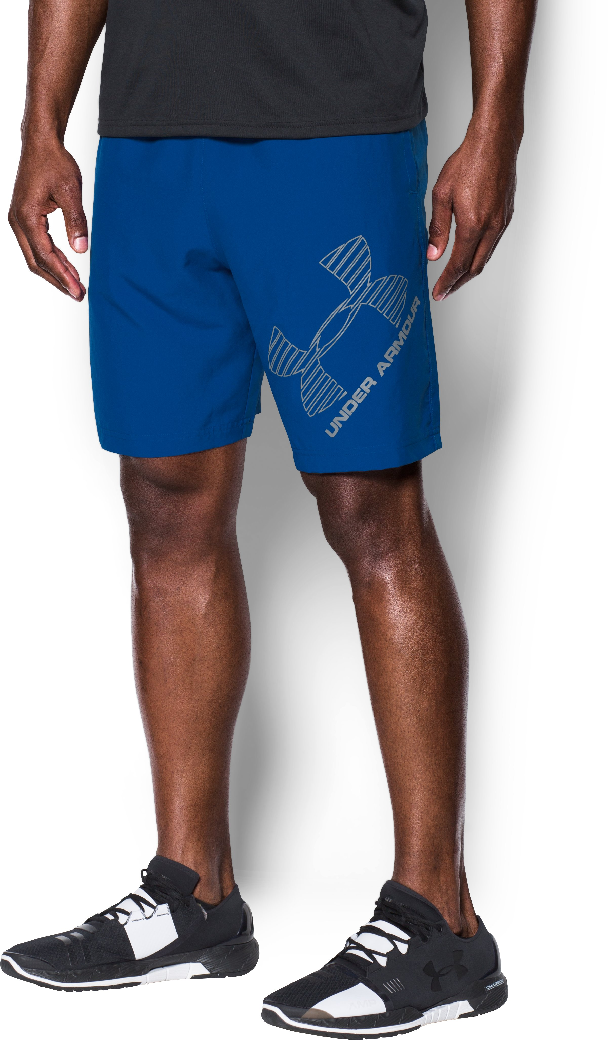 Men's UA Graphic Woven Shorts, Royal, undefined