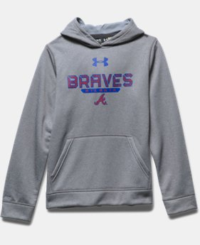 Boys' Atlanta Braves UA Storm Armour® Fleece Hoodie