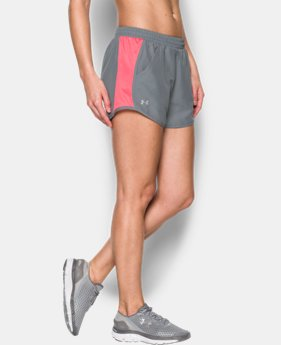 Women's UA Fly-By Perforated Run Shorts  1 Color $17.99 to $22.99