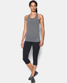 New Arrival  Women's UA Threadborne Seamless Heathered Tank  3 Colors $44.99