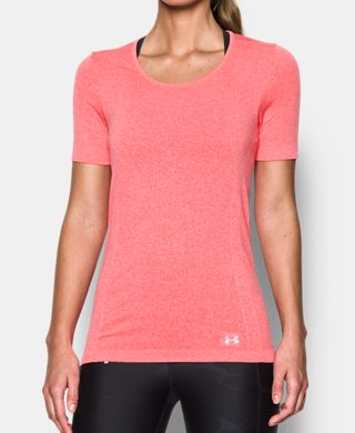 Women's UA Threadborne Seamless Heathered Short Sleeve