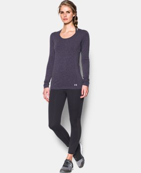 New to Outlet Women's UA Threadborne Seamless Heathered Long Sleeve  1 Color $30.99 to $41.99