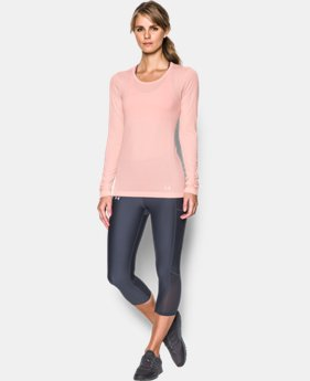 Women's UA Threadborne Seamless Heathered Long Sleeve  1 Color $64.99