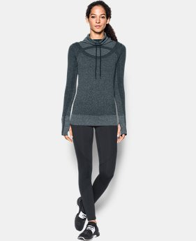 New Arrival Women's UA Threadborne™ Seamless Heathered Funnel Neck  1 Color $69.99