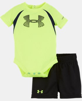 New Arrival Boys' Newborn UA Energy Big Logo Bodysuit Set LIMITED TIME: FREE SHIPPING 1 Color $32.99