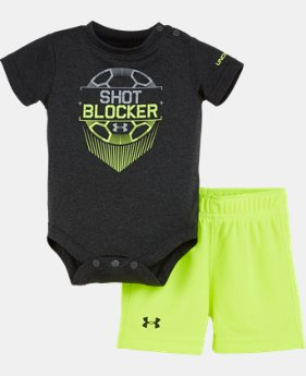 Boys' Newborn UA Shot Blocker Bodysuit Set