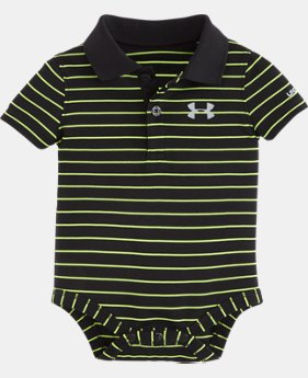 Boys' Newborn UA Yarn-Dye Polo Bodysuit