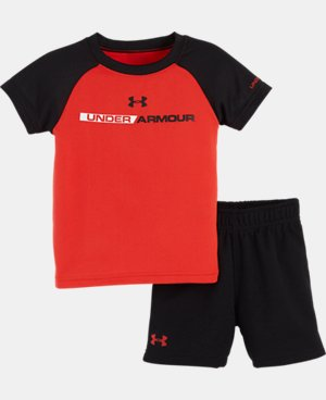 Boys' Newborn UA Wordmark Bodysuit Set LIMITED TIME: FREE U.S. SHIPPING 1 Color $24.99
