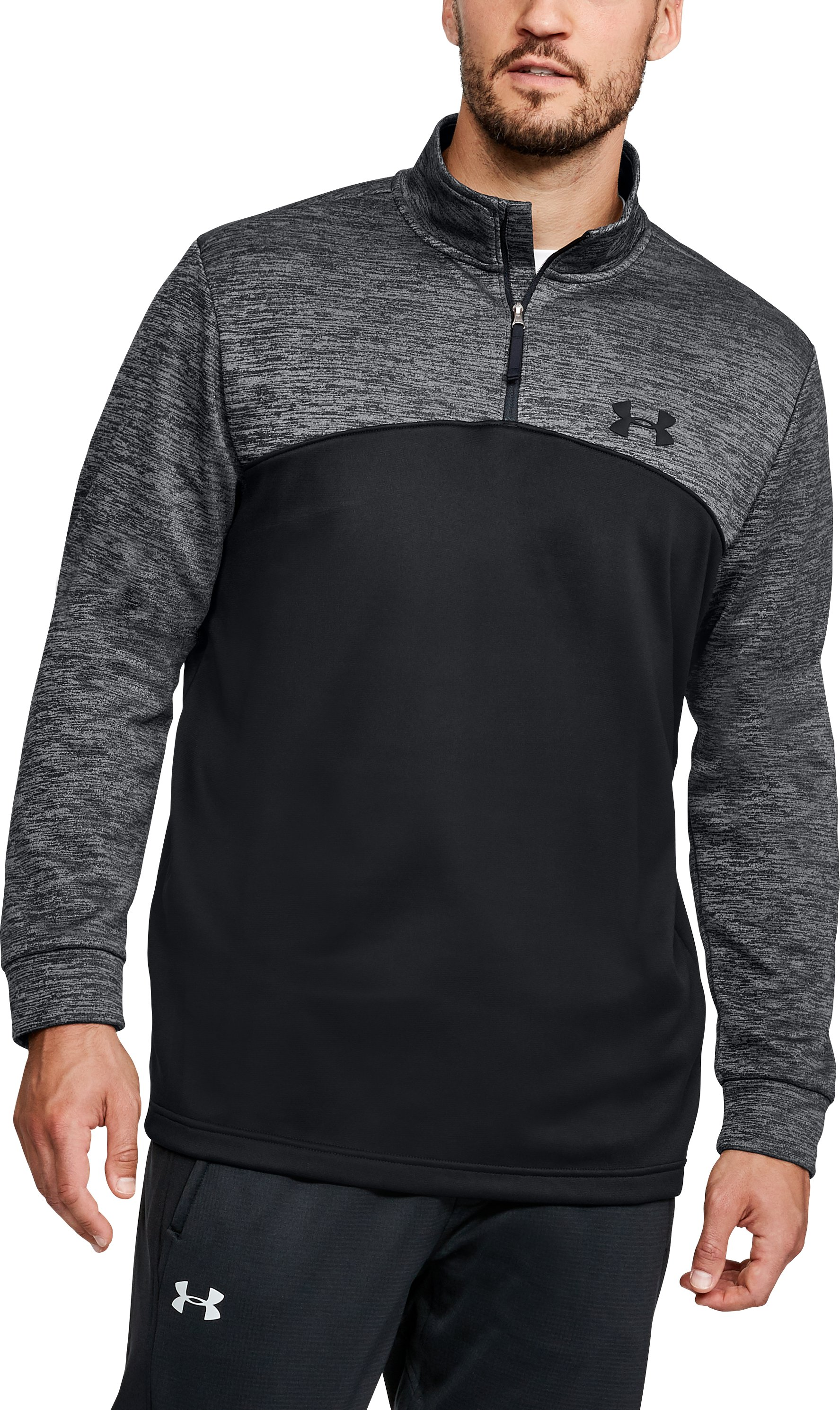 Men's UA Storm Armour Fleece® ¼ Zip, Black