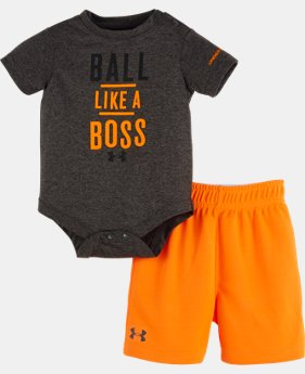 Boys' Newborn UA Ball Like A Boss Bodysuit Set